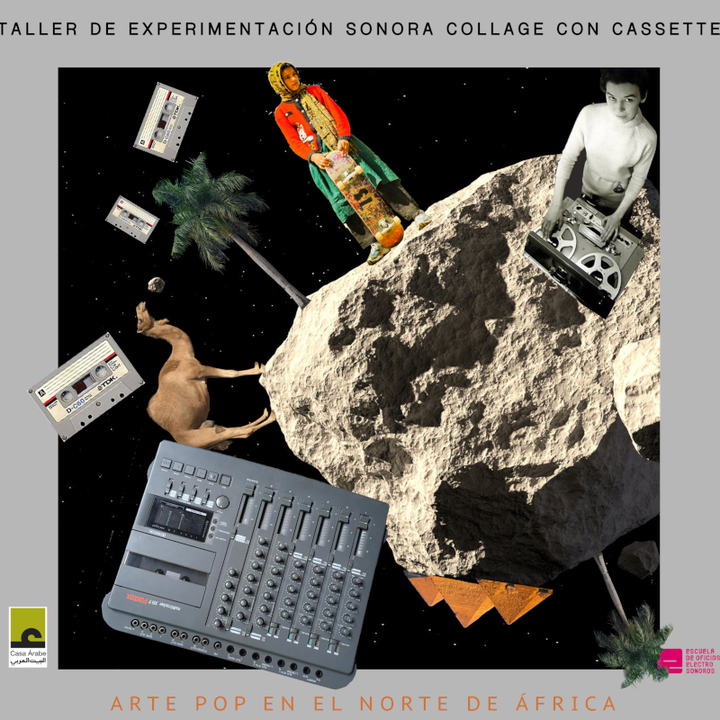 Workshops on sound experimentation using cassette collages