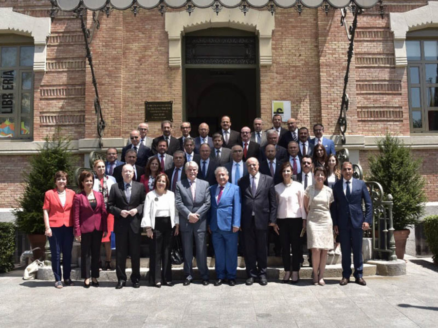 The Palestinian ambassadors with accreditation in Europe are meeting at Casa Árabe