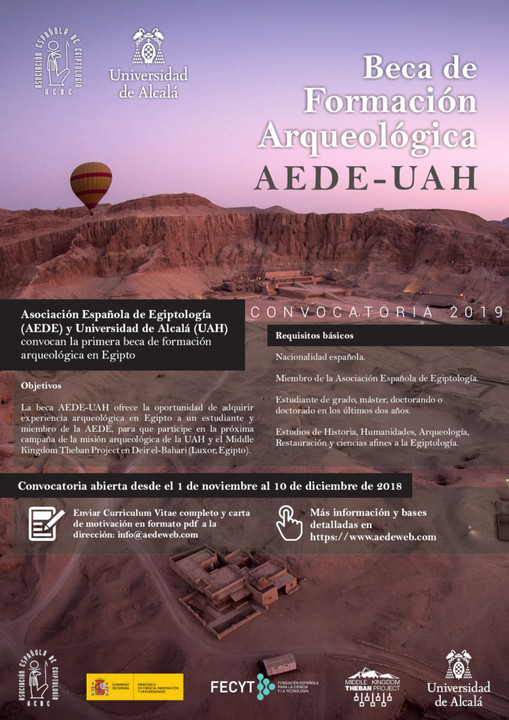First AEDE-UAH Archeological Training Scholarship in in Egypt